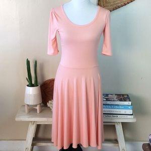 Lularoe Peach Nicole Swing Dress